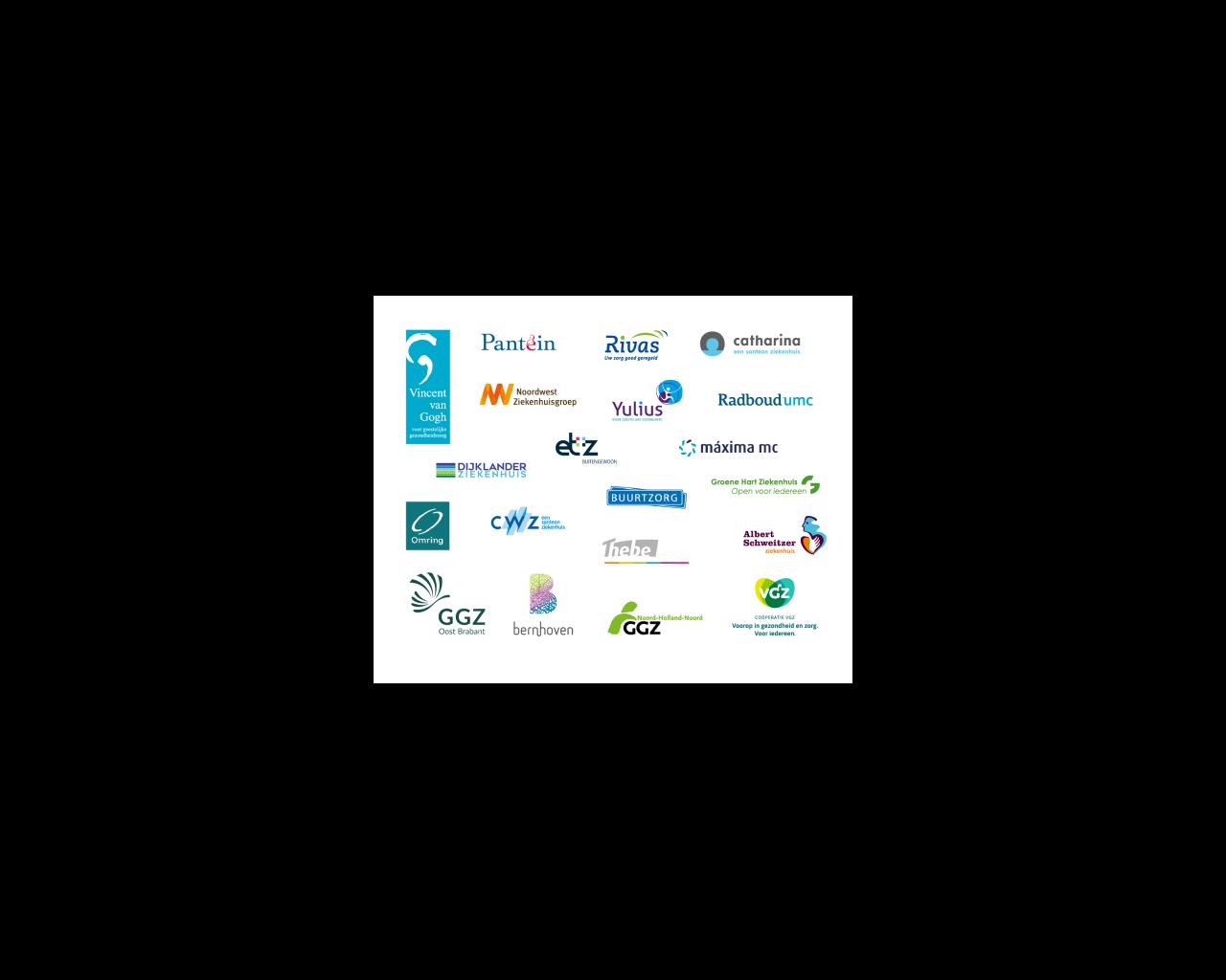 Logo's van alle alliantiepartners van Netwerk Zinnige Zorg